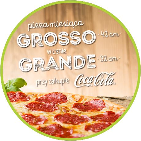 W sieci Da Grasso kup pizzę Grosso z napojem i zapłać jak za Grande