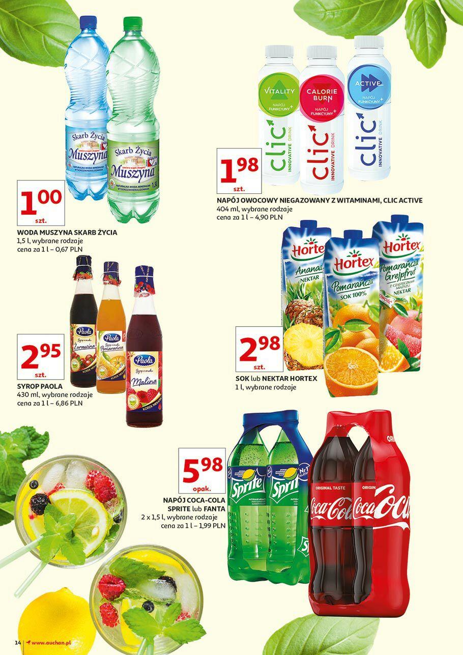 Woda Muszyna 1,5l Auchan za 1 zl