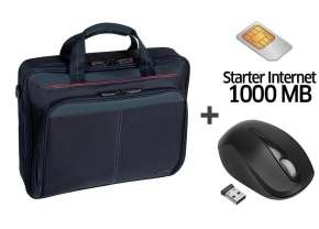 TYLKO DZISIAJ! Torba na laptopa + mysz bezprzewodowa + starter z 1GB internetu @ X-Kom