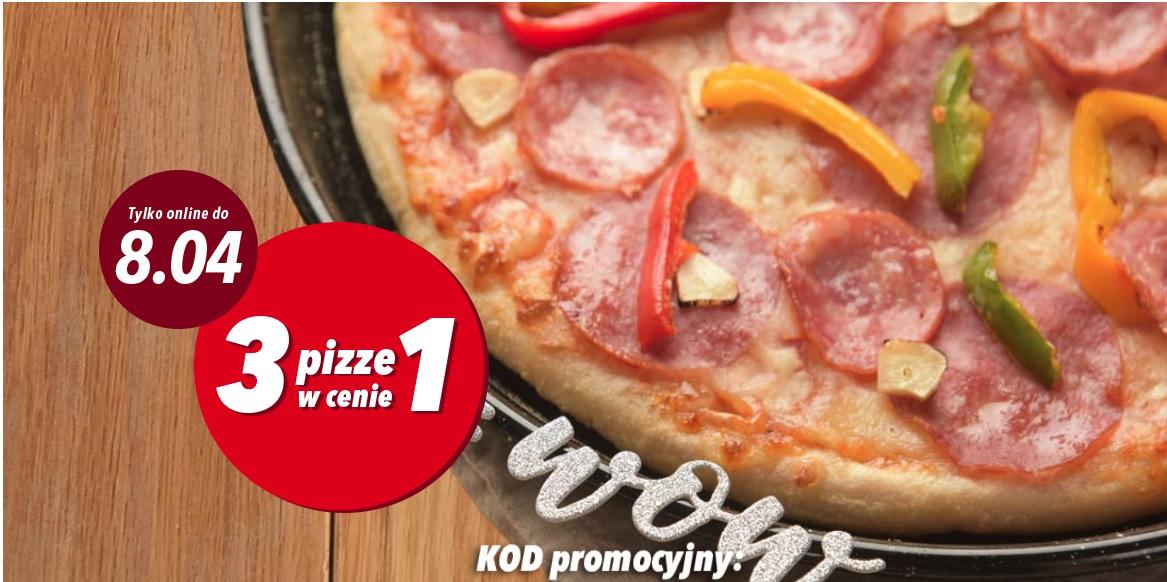3 pizze w cenie 1 do 8 kwietnia @Telepizza