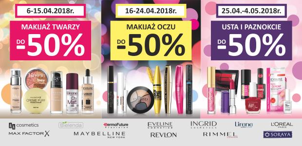 Do -50% na kosmetyki w drogeriach Jawa