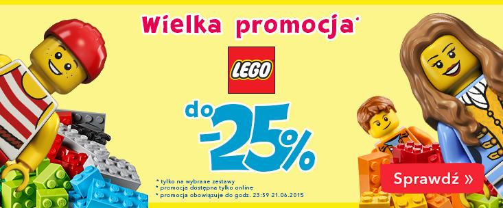 Rabat do 25% na wybrane zestawy Lego @ ToysRUs