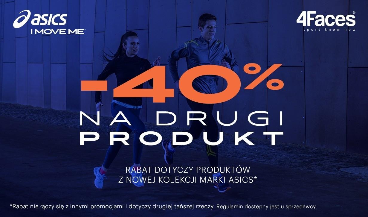 -40% na drugą rzecz marki Asics @ 4Faces