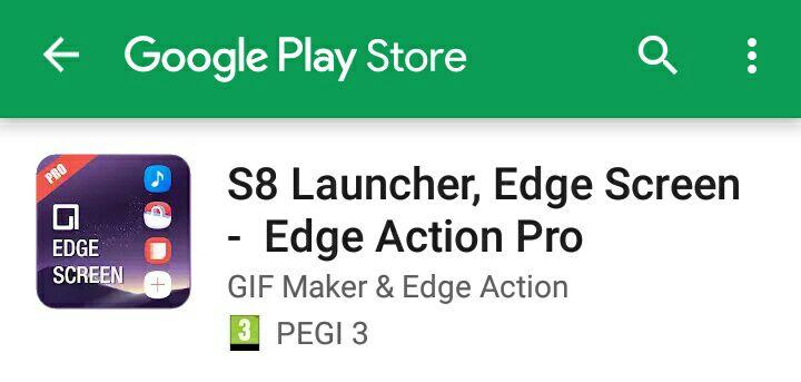 S8 Launcher Edge Screen - wysuwane menu przy krawędzi ekranu