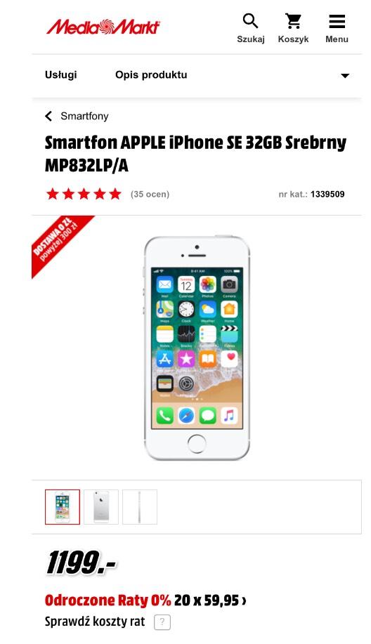 iPhone SE 32gb MediaMarkt
