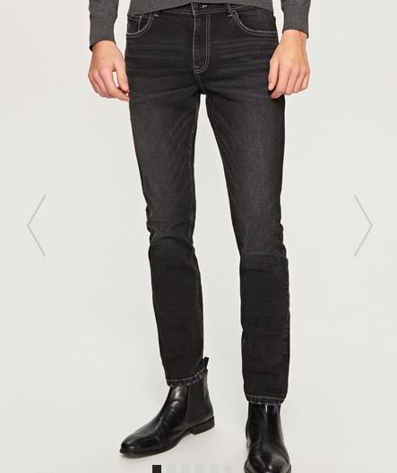 Męskie dżinsy (czarne, slim) za 47,99zł @ Reserved