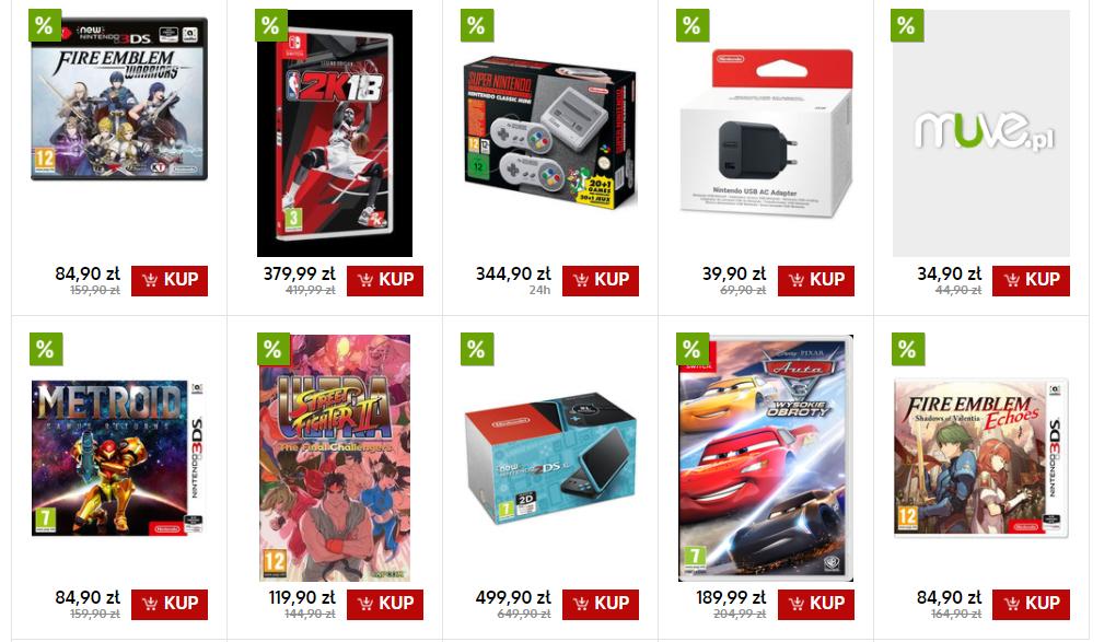 Wyprzedaż Nintendo w Muve: 2DS XL za 499zł,  Metroid: Samus Returns i Fire Emblem: Warriors (3DS) po 84,90zł, 2DS+ Mario Kart za 334,90zł