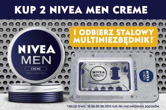 Kup 2x Nivea Men Creme i odbierz stalowe multinarzędzie @ Rossmann