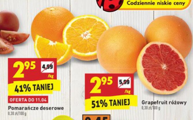 Pomarańcze deserowe i Grapefruit różowy @Biedronka