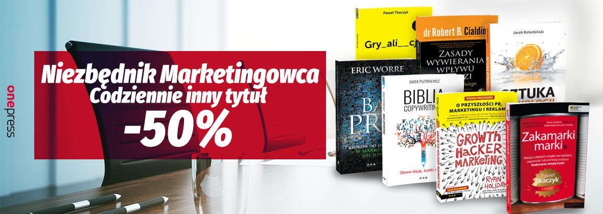 Niezbędnik Marketingowca: 7 dni, 7 tytułów, -50% (lista) @ OnePress