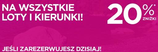 Wizz Air 20% tańsze bilety