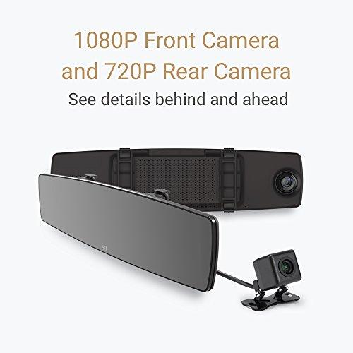 Yi Mirror Dash Cam zestaw kamer przód i tył Xiaomi @Amazon