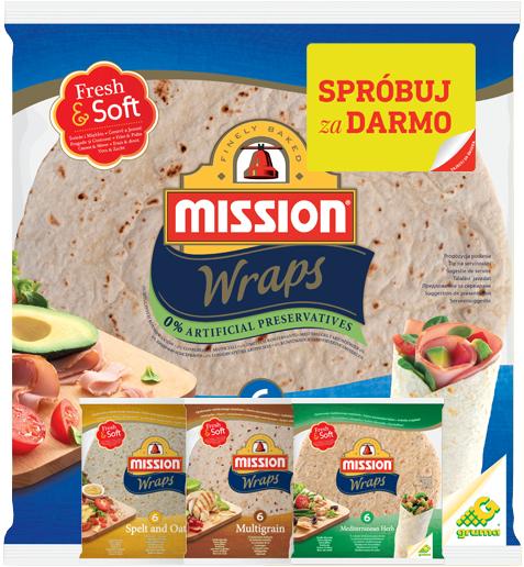 Spróbuj Mission Wraps (placki do tortilli) ZA DARMO (zwrot 100% ceny!) @ Mission