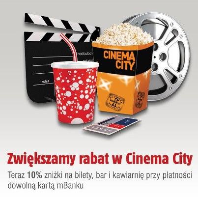 -10% do Cinema City (mBank)