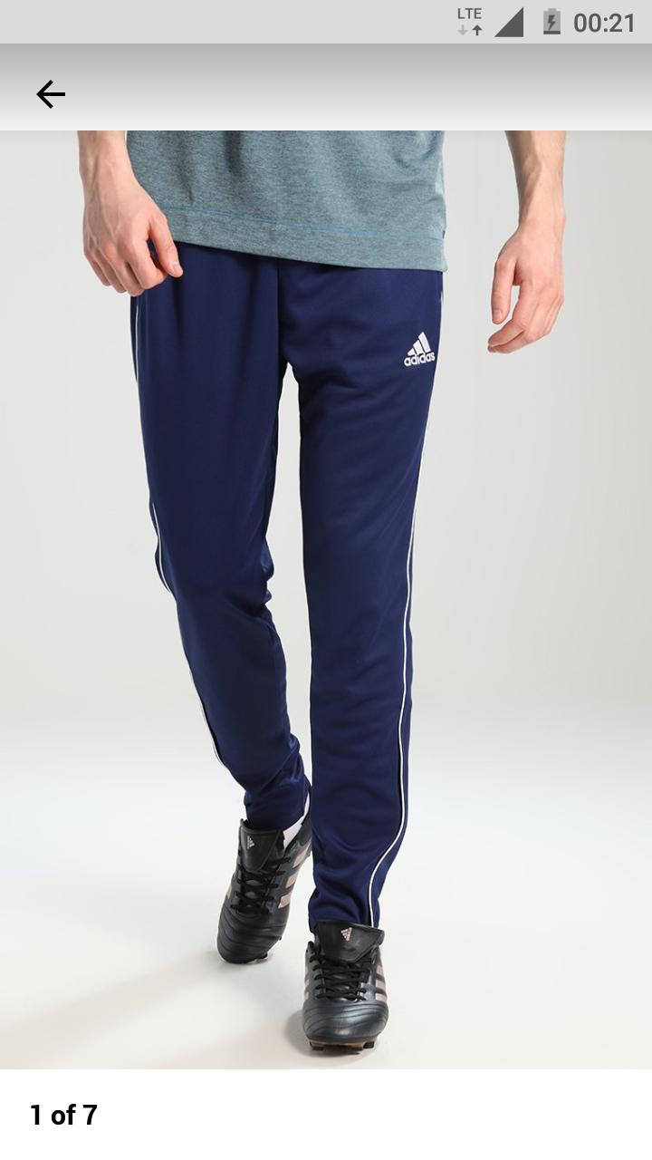 Adidas CORE - Spodnie treningowe - dark blue/white