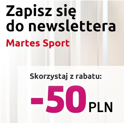 Odbierz 50zł na zakupy w Martes Sport