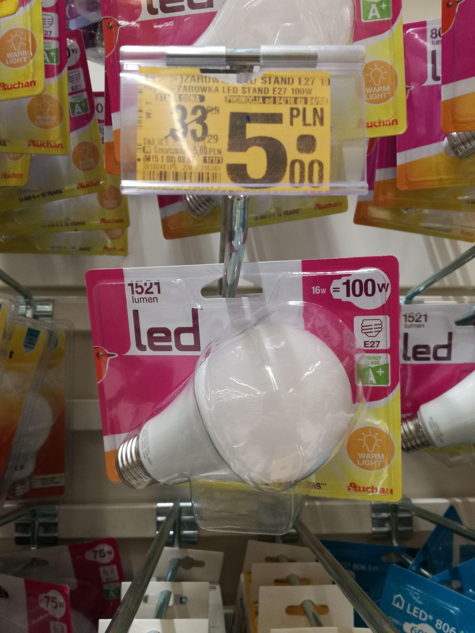 Żarówka Led E27 16W 1521 lumenów Auchan