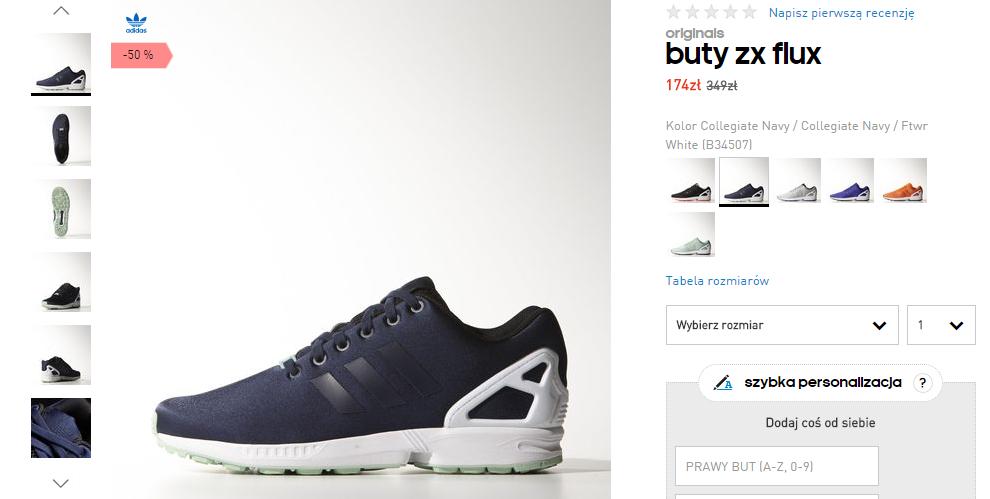Buty Adidas ZX FLUX za 174zł (50% taniej!) @ Adidas