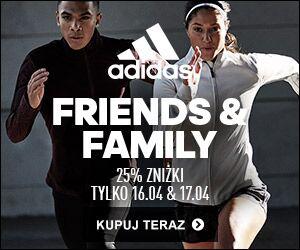 -25% na wybrane produkty oraz outlet (Friends&Family) @ Adidas