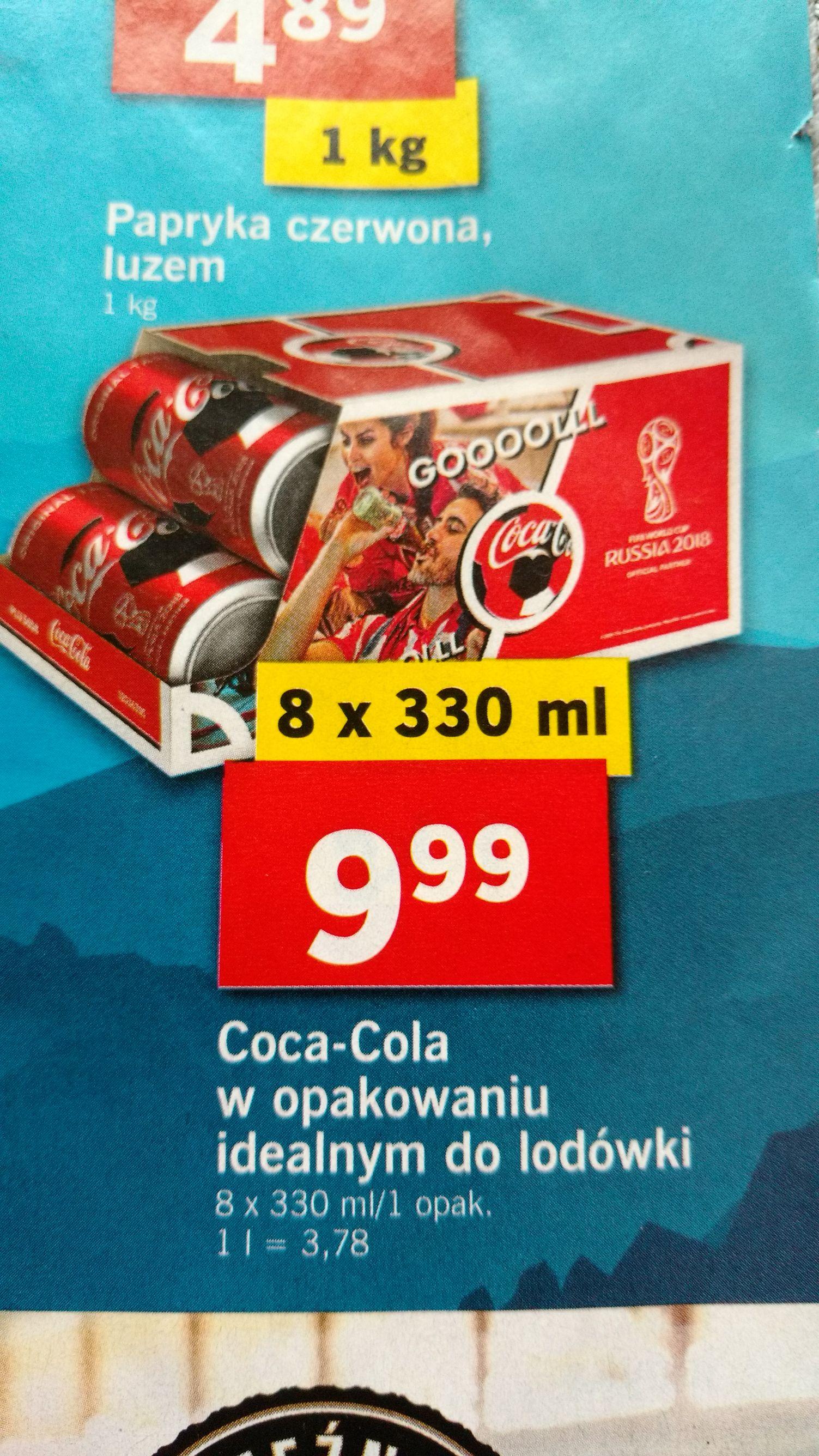 8 puszek Coca-Coli za 9,99 w Lidlu
