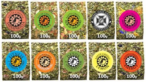 10x 100g Yerba Mate Green