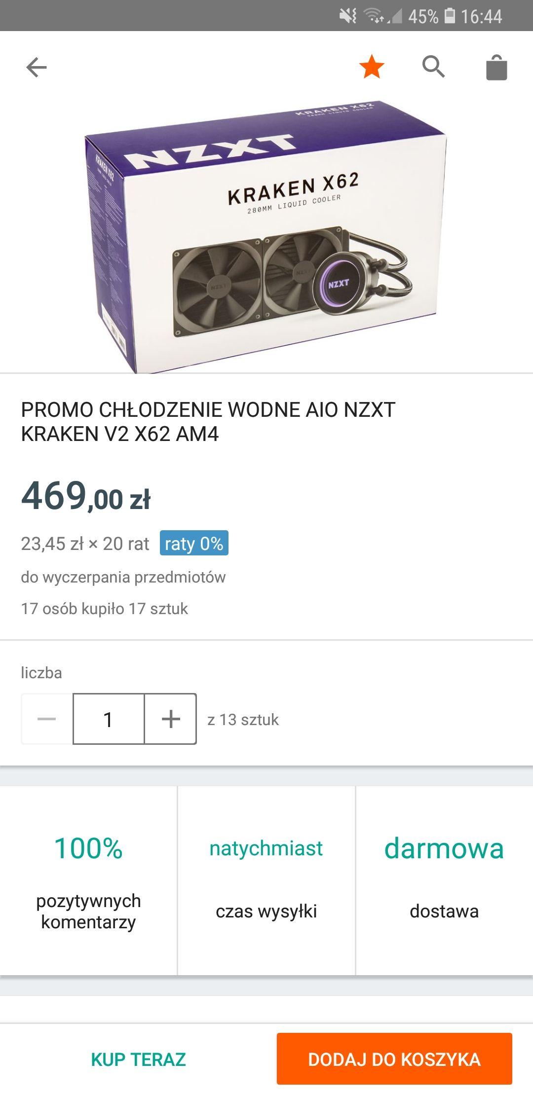 Nzxt X62 Kraken - chłodzenie AIO