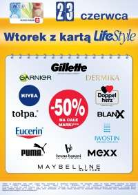Rabaty 50% na rozmaite marki (Gillette, Garnier, Dermika, Nivea, Maybelline) @ Super-Pharm