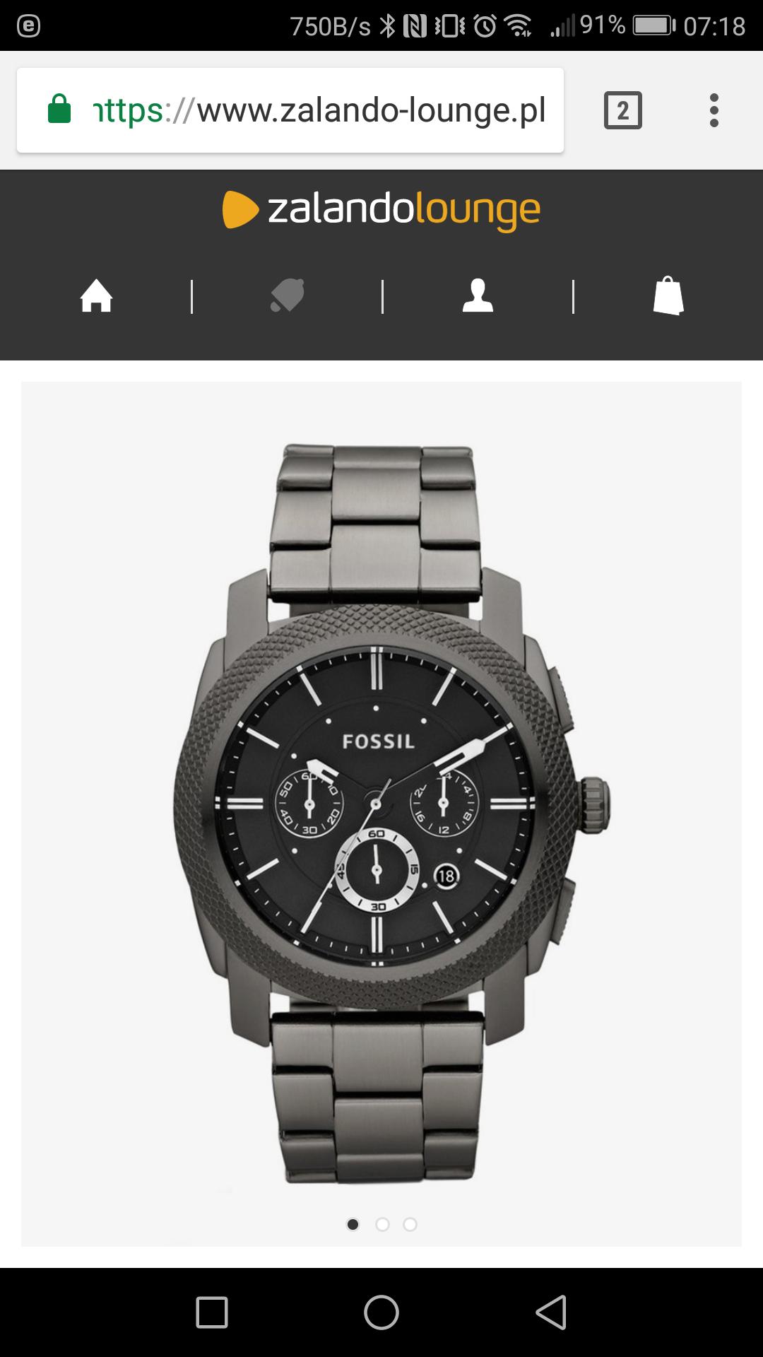 Promocja na zegarki Fossil na Zalando Lounge
