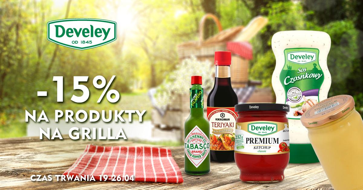 Wiosenne Grillowanie ! -15% na produkty na grilla w Develey (19-26.04.2018)
