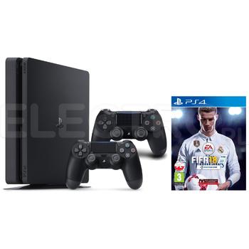 PS 4 Slim 1TB + Fifa 18 + 2 x DualShock 4