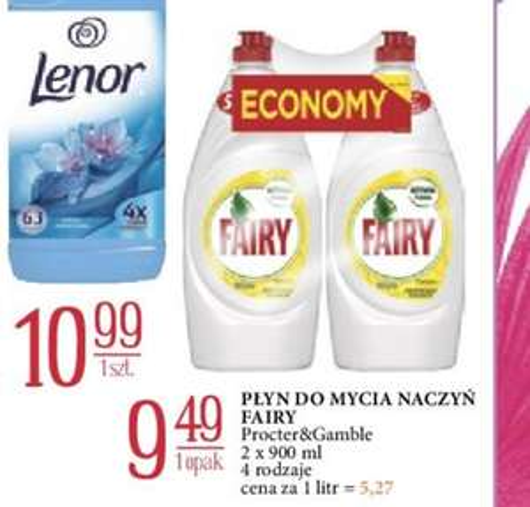 Fairy Płyn do mycia naczyń 2x 900ml E.Leclerc