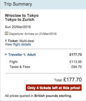 (BŁĄD CENOWY) Bilety z Polski do Japonii oraz Chin od 935zł ! @ LOT