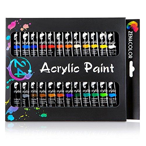 Farby akrylowe - 24 kolory do obrazów