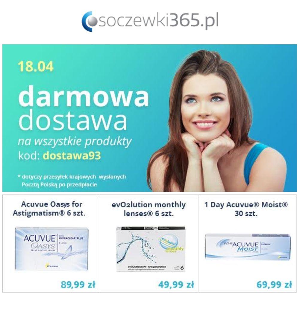 W środę 18.04 darmowa dostawa na soczewki365.pl