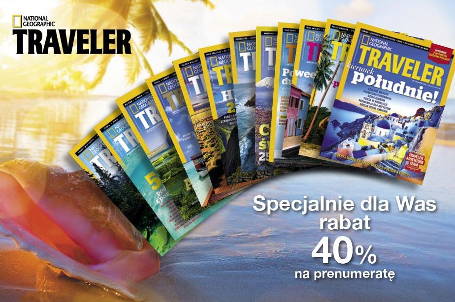 Prenumerata National Geographic Traveler 40% TANIEJ @ Burdamedia