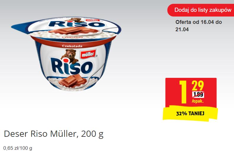 Deser ryżowy Riso w Biedronce