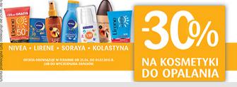 Kosmetyki do opalania taniej o 30% @ Drogerie Natura