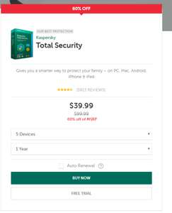 Kaspersky Total Security na 5 Stanowisk