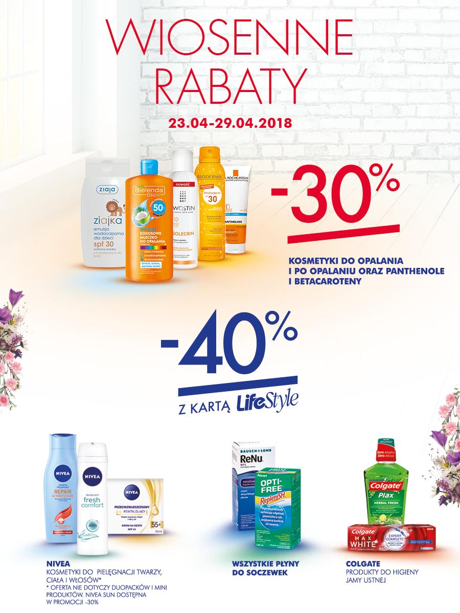 -40% na wybrane produkty (żele pod prysznic, kosemtyki do opalania) @ Super-Pharm