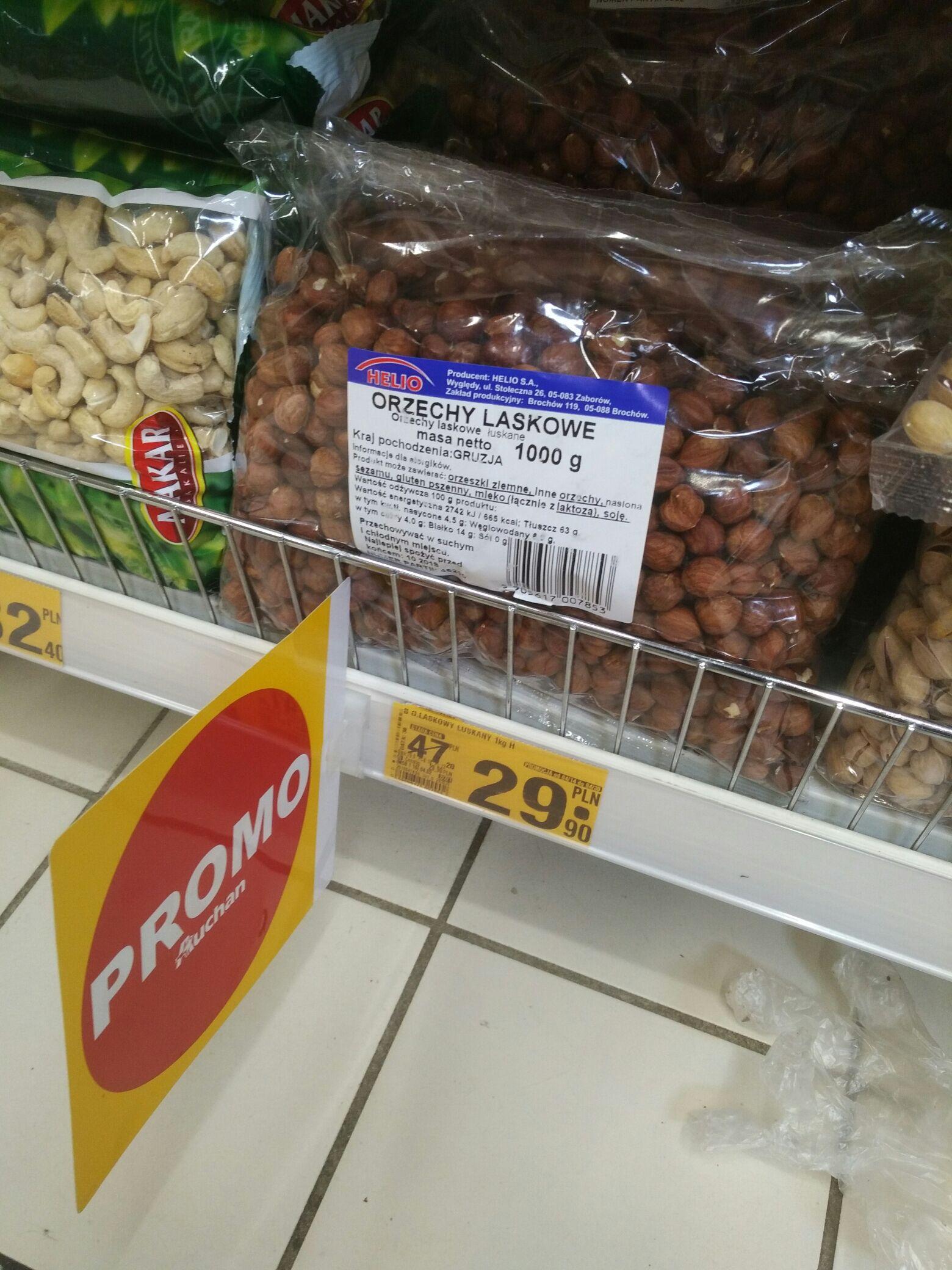 Orzechy laskowe 1 kg za 29, 9zł Auchan Zabrze