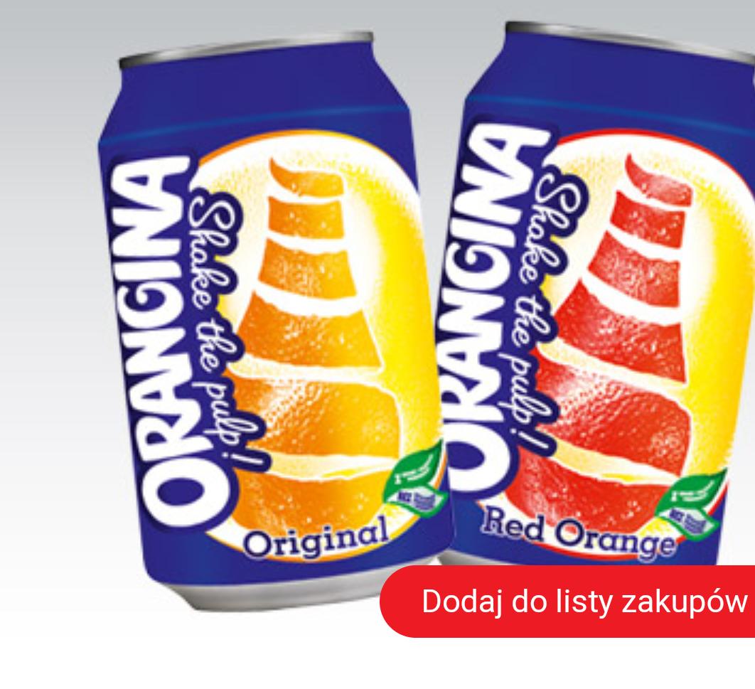 Orangina Original i Red Orange puszka 0,33l