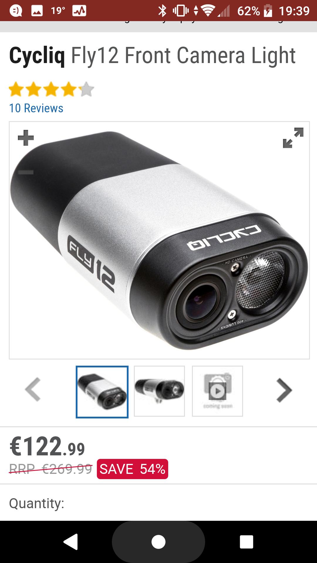 Lampka rowerowa i kamera w jednym CycliqFly12 (1 generacja)