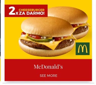 Dwa cheeseburgery gratis z aplikacją Goodie (wybrane miasta) @ McDonald's