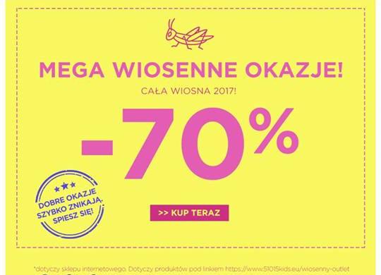 Wiosenne okazje w 5.10.15 ubrania dla dzieci -70%