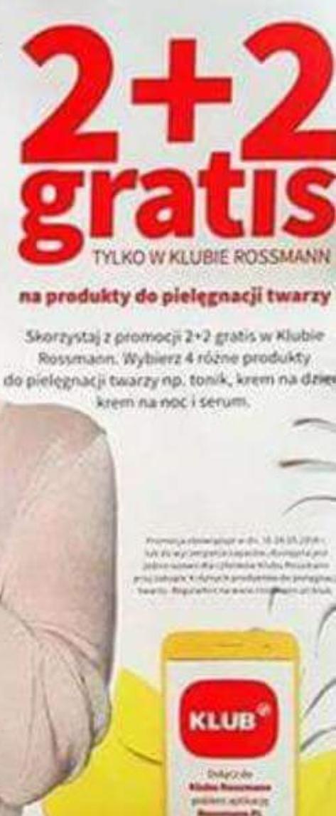 Zadbaj o swoją cerę! Akcja 2+2 gratis na produkty do pielęgnacji twarzy. Mogą być 4 takie same produkty (możliwe że tymczasowo)@Rossmann