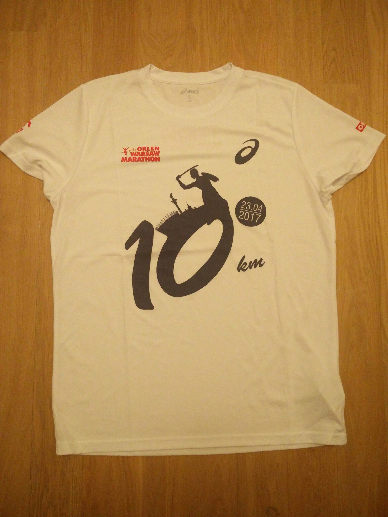Koszulki biegowe Asics - z zeszłorocznego Orlen maratonu