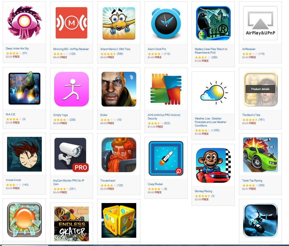 Aplikacje i gry o wartości 50$ za DARMO @ Amazon Apps