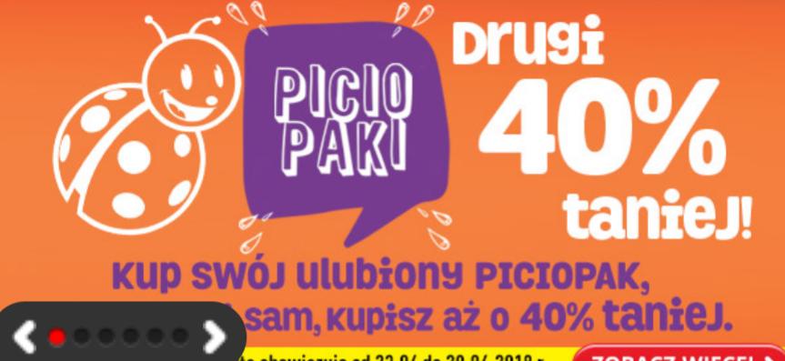 Piciopaki -40% na drugą zgrzewke @biedronka
