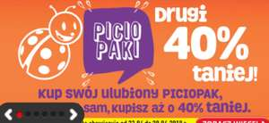 Piciopaki -40% na drugi napój, sok, nektar @biedronka