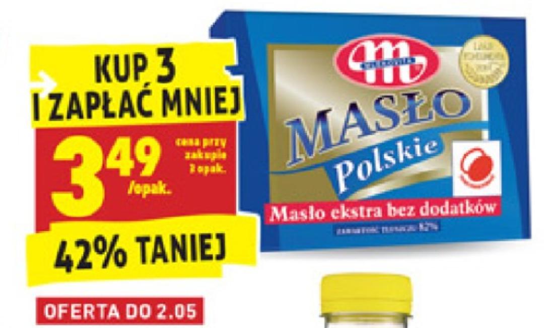 Masło Polskie 82% (przy zakupie 3 sztuk) Biedronka